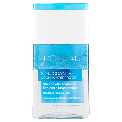 L'Oréal Paris Struccante Occhi Waterproof, Strucca Efficacemente il Trucco a Lunga Tenuta, No Residui Grassi, 125 ml