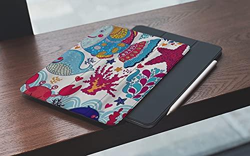 Funda para iPad 10.2 Pulgadas,2019/2020 Modelo, 7ª / 8ª generación,Ballena personalizada Peces divertidos Estrella de mar Cangrejo de coral Submarino O Smart Leather Stand Cover with Auto Wake/Sleep