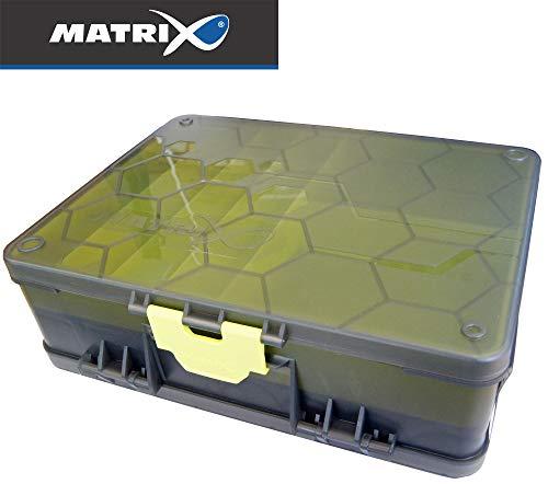 Fox Matrix Double sided Feeder & Tackle Box - Angelbox für Feederkörbe & Angelzubehör, Tacklebox für Futterkörbe, Feederbox
