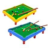 Toyvian Mini Tabletop Pool Set Miniature Billiard Table Snooker Game Toy Indoor Outdoor Game Kids...