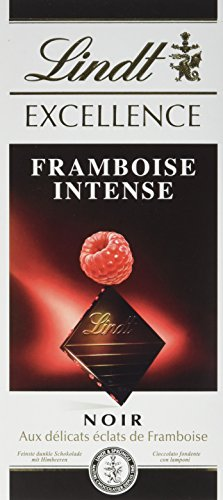 Lindt Excellence Tablette De Chocolat Noir Framboise Intense 100g