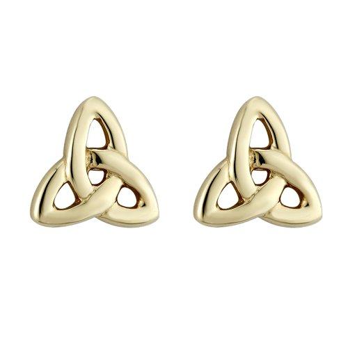 Tara Trinity Knot Earrings Gold Plated Studs Made in Ireland