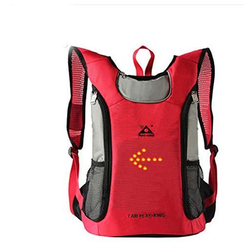 ANAN Multifunktionale Reiten Rucksack, Paket Fern Lenkung mit Blinkern, Bergsteigen Reittasche, Fahrradpacksack im Freien Sportgerät,Rot