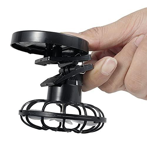 You\'s Auto Portable Mini Fan Clip Beweglichen Solar Fan Ventilator Mini Tischventilator Leise für Hut Kinderwagen Büro Outdoor