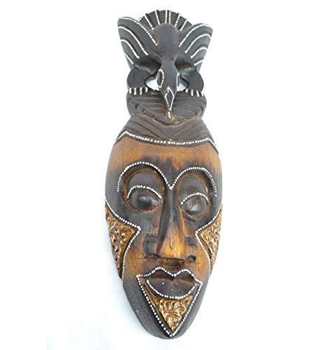 Máscara africana de madera, 30 cm, fabricación artesanal