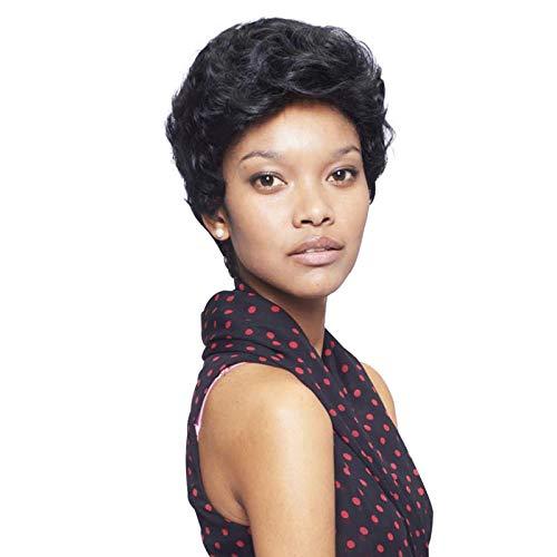 Parrucche sintetiche per donne nere Parrucca riccia corta di colore puro Parrucche sintetiche afroamericane 6 pollici