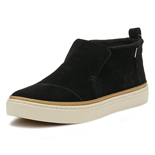 TOMS Mujer Negro Ante Paxton Zapatos-UK 8