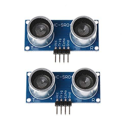 BIlinli 2 stücke HC-SR04P Ultraschall Entfernungsmesser Sonar Sensor Hohe Betriebsspannung 3 V-5,5 V 16mm Ultraschall Entfernungsmessmodul Sonde
