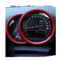 にとってMINIクーパーS F54 F55 F56 F60クラブマンカントリーカーインテリアトリムアクセサリーステアリングホイールの装飾カバーカースタイリング 車のインテリア装飾ステッカ (Color : 赤, サイズ : 1)