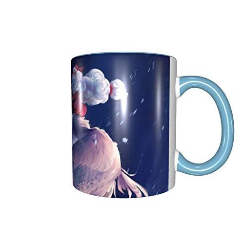 Taza de café con diseño de Papá Noel, 325 ml, para oficina y hogar