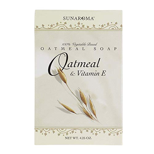 Sunaroma Soap Oatmeal & Vitamin-E Bar 4.25 Ounce Boxed (125ml) (6 Pack)