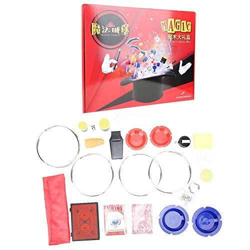 Bicaquu 12 Tipos Kit de Magia para niños de Truco de Magia Juego de Juguetes para Principiantes Close Up Illusion Gimmick Prop Kit de Regalo Accesorio para niños Cumpleaños