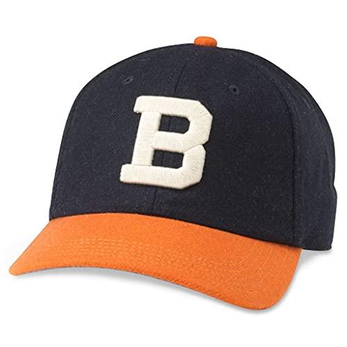 AMERICAN NEEDLE Archive Legend Brooklyn Bushwicks Baseball Adjustable Bucklestrap Dad Hat (21005A-BRB-NVOR)