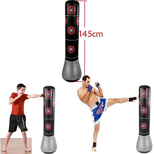 Saco de Boxeo, Acogedor Sacos de Boxeo Hinchable, Desestresante Saco de Boxeo,...