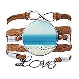 DIYthinker - Pulsera con cadena de amor, diseño de playa y arena
