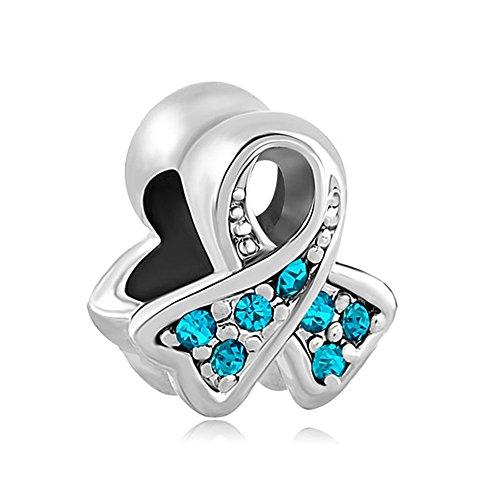 Charmed Craft (cristal charms perlas de cáncer de mama conciencia cinta