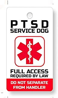 Just 4 Paws Service ESA PTSD, Therapy Dog Key & Collar Tag for ADA & FHact Service Animals