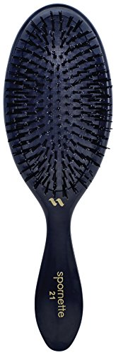 Price comparison product image Spornette Large Oval Hair Brush With Cushioned Nylon Bristles for Smoothing,  Straightening,  Detangling & Styling ( 21) For Managing Curls Any Hair Type including Wigs Extensions or Weaves