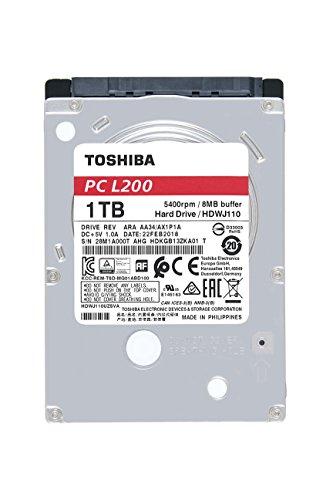 """Toshiba L200 - Disco Duro Interno de 1 TB (6,4 cm (2,5""""), SATA)"""