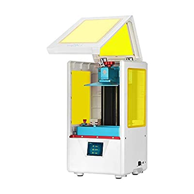 ANYCUBIC 3D Printer Photon S UV Photocuring Ultra Precision LCD Printer Masking Technology 2K Screen 405nm Matrix UV Light Z-axis Dual Linear Rail Printing (White)