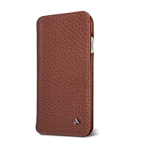 Vaja Wallet Agenda iPhone SE/8 Leather Case (Floater Saddle Tan)