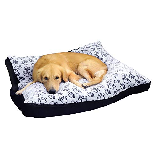 Bingopaw Waterproof Dog Bed Extra Large Washable Mat Jumbo Big Pet XXXL Faux Suede Plush Dog Bed Cushion Washable