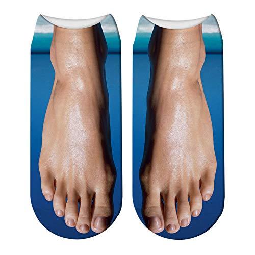 HNDDWZDB Calcetines Tobilleros 3D De Ballet De Arco Iris Impresos En 3D Calcetines Zapatillas De Mujer Lindas Calcetines Gorra De Flop Unisex Algodón De Dibujos Animados Divertido
