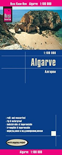 Reise Know-How Landkarte Algarve 1 : 100.000: world mapping project
