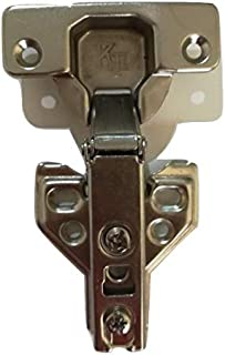 KT HINGES half bend (4 HOLE) With fish plate for Kitchen Cabinet Cupboard Wardrobe Door (2 PCS) half overlay