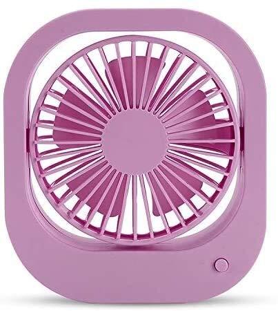 JeeKoudy Ventilador portátil de Escritorio, Ventilador de Escritorio de Carga USB Giratorio de 360 Grados, con 2 Controles de Velocidad (Color : Purple, Size : 13.5x12x.3.6cm)