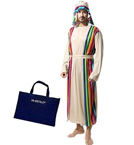 アラブ 大富豪コスプレ 4点セット(カンドゥーラ ターバン ウエスト布 IN・ESTILOバッグ)民族衣装 アラビアン 王子 ハロウィン 衣装 メンズ 男性 大人 コスチューム 仮装 フリーサイズ