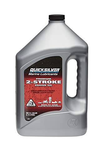 Quicksilver 858020Q01 Premium 2-Stroke Engine Oil – Outboards, PWCs, Snowmobiles, Motorcycles and Chainsaws – 1 Pint