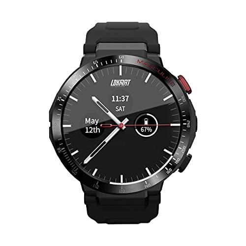 1G + 16G Android Smart Watch Teléfono 4G Network WiFi 1.6 Pulgadas Círculo Completo Pantalla Táctil Smartwatch Camera De Hombre Videollamada GPS,A