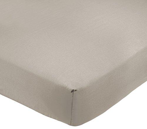 AmazonBasics - Lenzuolo king con angoli, Policotone 200 fili, grigio - 180 x 200 x 30 cm