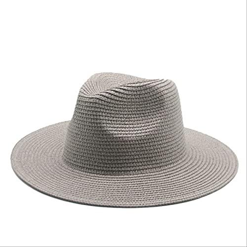 Lsthnm Sombreros para El Sol Sombrero De Paja De ala Ancha Gorras De Protección Solar Verano Anti UV Viajes Gorras De Playa para Hombres Mujeres Playa Camping Pesca Senderismo