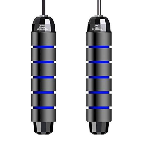 Cloverclover Corde À Sauter Corde À Sauter Pour La Corde De Perte De Poids De Corde De Fil D'Acier De Forme Physique Sautant, Bleu Noir