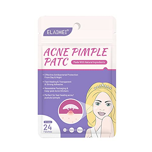Explopur 24 plåster Acne Pimple Patch Osynliga Acne Removal Stickers Pimple Remover Tool Ansiktshudvård för dag nattbruk