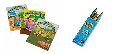 USToy 24 Piece Dinosaur Coloring Book & Crayons Bundle