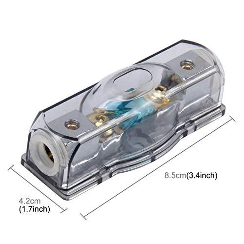 LYNQYG Zubehör Auto Auto Sicherungshalter Blade-Sicherungshalter Bolt-on-Sicherungshalter mit 60A Sicherung for Car Audio