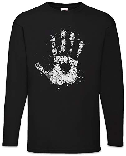 Urban Backwoods White Hand II Long Sleeve T-Shirt De Manga Larga Negro Talla XL