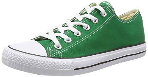 Elara Lucky-Z Unisex Sneaker Textil Turnschuh Low top Chunkyrayan 089-A-CA01-Green-36