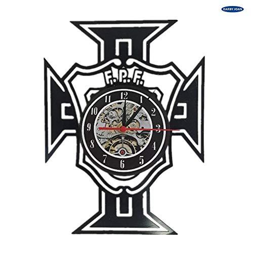 Reloj de Pared Colorido Reloj de Vinilo del Equipo de fútbol de la República de Portugal Euro 2017 decoración del hogar 12 Pulgadas