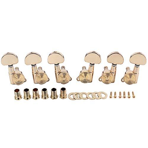 ASSteel 3R3L Saitenstimmwirbel Stimmwirbel Stimmwirbel Mechaniken für akustische E-Gitarre, Klavier und andere Musikinstrumente Zubehör