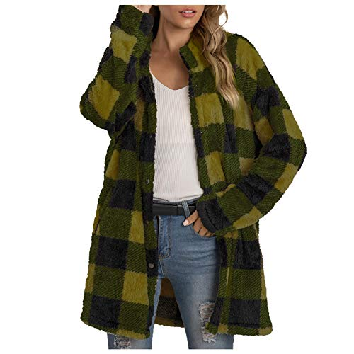 White Sweatshirt for Tie Dye Cheetah Cardigan for Women Mens Faux Fur Coat Plus Size Tunic Tops for Women Women's Blazers & Suit Jackets Pullover for Women(Green,M)