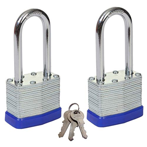 SEPOX - Candados de seguridad laminado impermeable con 2 llaves (40 mm)