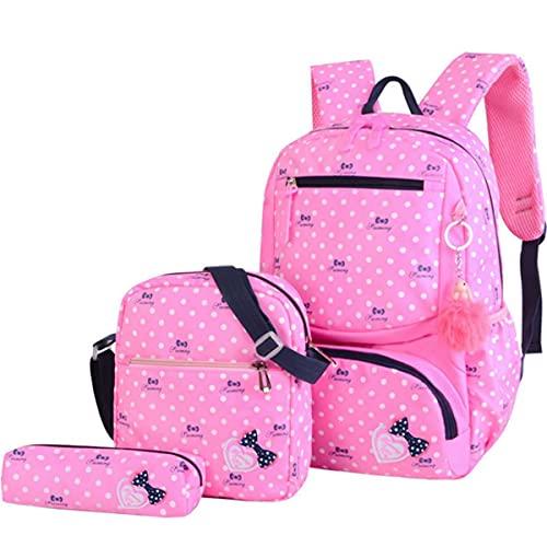 MINGPAI 3 piezas / set mochila escolar impresa mochila escolar mochila de moda mochila escolar estudiante