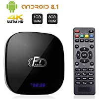 A95X F1 Android 8.1 TV Box 1GB RAM 8GB ROM Amlogic S905W Quad-Core Cortex-A53 CPU Supports 2.4GHz WiFi 3D 4K HDMI 2.0 100M LAN Ethernet