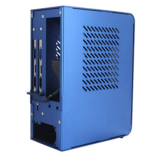 Sutinna ITX Computer Case, for ITX Motherboard Mini Computer Case for ITX HTPC Home Theater Motherboard Case Chassis Noise-Free Running Computer Chassis