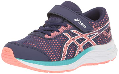 ASICS Kid's Gel-Excite 6 PS Running Shoes, 2, Purple Matte/Sun Coral