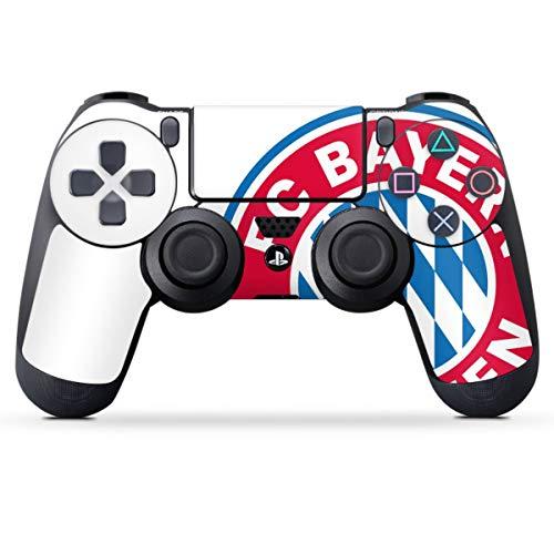DeinDesign Skin kompatibel mit Sony Playstation 4 PS4 Controller Folie Sticker FC Bayern München Logo FCB